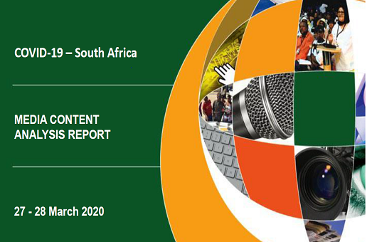 COVID-19 South Africa Media Content Analysis Report