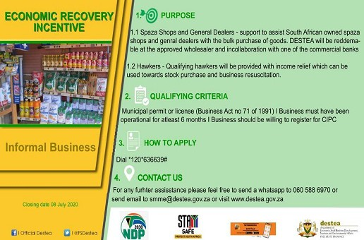 Economic Recovery Incentive – Informal Business