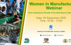 INVITATION TO FREE STATE WOMEN IN MANUFACTURING WEBINAR, 04 SEPTEMBER 2020