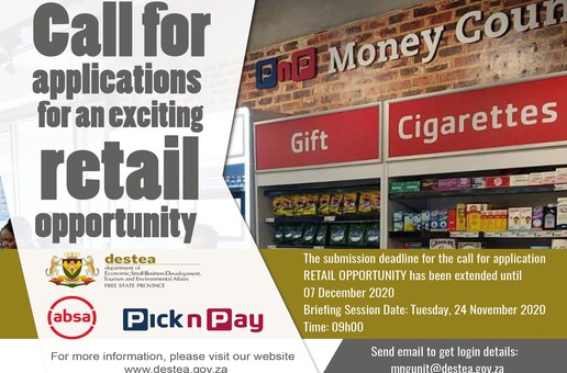 Applications For Retail Opportunity has been Extended