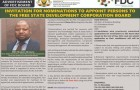 Invitation For Nomination To Appoint Persons To The Free State Development Corporation Board